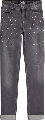 Karl Lagerfeld Choupette Pearl Cropped Jeans