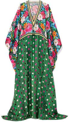 Mary Katrantzou Asso Printed Silk-twill Kaftan - Green