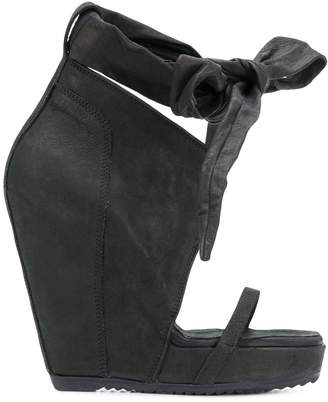 Rick Owens bow wedge sandals