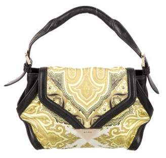 Etro Leather-Trimmed Paisley Print Bag Green Leather-Trimmed Paisley Print Bag