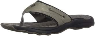 Sperry Men's Outer Banks Thong Flip Flops, Grey/Black