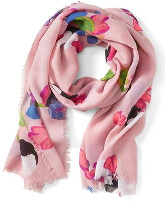 Painterly Floral Scarf $58 thestylecure.com