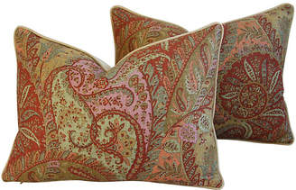 One Kings Lane Vintage Brunschwig & Fils Paisley Pillows