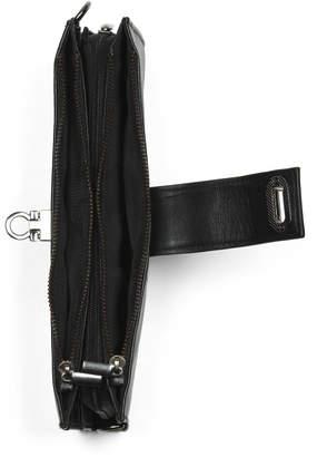 Rfid Leather Turn Lock Wallet Crossbody