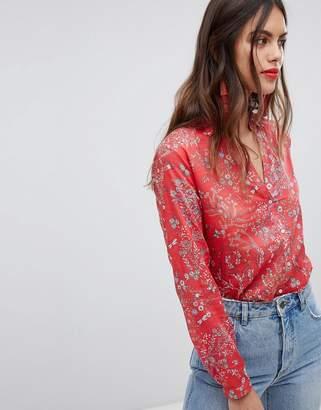 Esprit All Over Floral Print Button Top Shirt