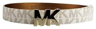Michael Kors Vanilla Belt Gold Logo Plaque XL