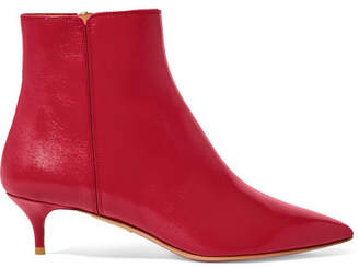 Aquazzura Quant Leather Ankle Boots - Red