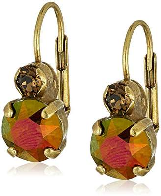 """Sorrelli Tapestry"""" Round Crystal French Wire Earring"""