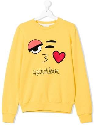 Fendi Kids Teen love sweatshirt