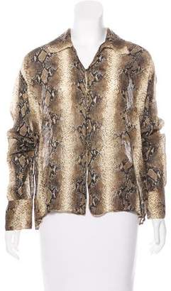 John Galliano Silk Printed Top