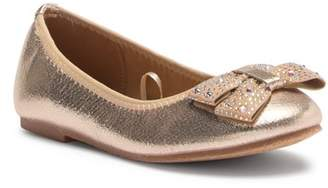 Tahari Ballet Flat With Studded Bow (Toddler & Little Kid)