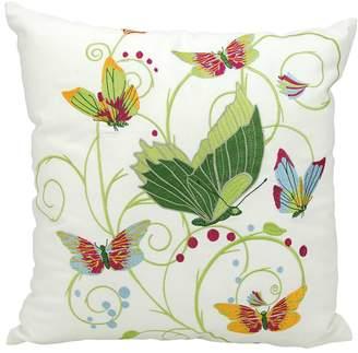 Kathy Ireland Fantasy Butterflies Indoor / Outdoor Throw Pillow