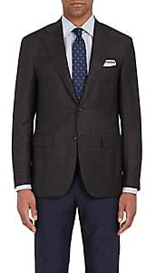 Canali Men's Capri Checked Wool Two-Button Sportcoat-Brown