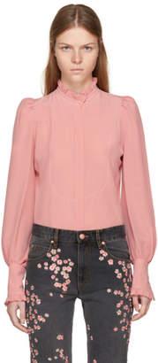 Isabel Marant Pink Silk Sloan Blouse