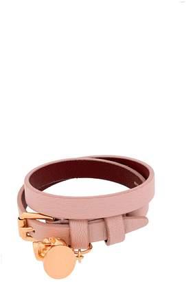 Alexander McQueen Skull Bracelet With Double Turn