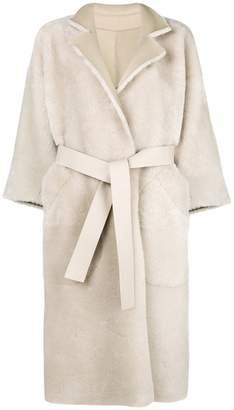 Rochas belted long sleeved coat