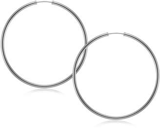 Fine Jewellery 10K White Gold Endless Hoop Earrings