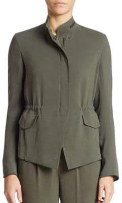 Akris Punto Solid Zip Up Jacket
