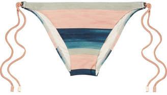Vix Mani Striped Bikini Briefs - Blush