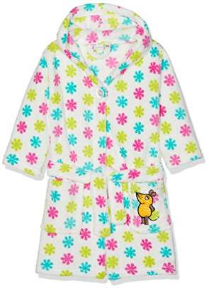 Playshoes DIE MAUS Baby Girls' Fleece-Bademantel Die Maus Blumen Bathrobe
