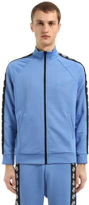 Love Moschino Logo Band Zip-Up Cotton Blend Sweatshirt