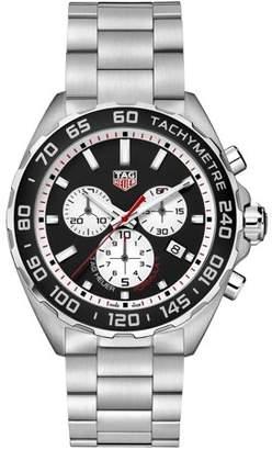 Tag Heuer Men's Formula 1 43mm Steel Bracelet & Case Quartz Black Dial Analog Watch CAZ101E.BA0842
