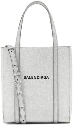 Balenciaga Everyday XXS glitter leather tote