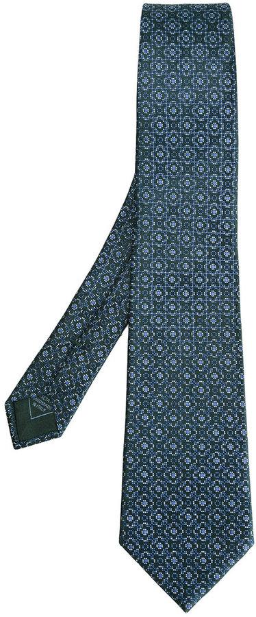 BrioniBrioni floral motif tie