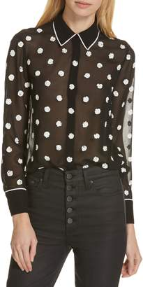Alice + Olivia Vina Embroidered Blouse