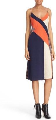 Diane von Furstenberg 'Frederica' Colorblock Slipdress $468 thestylecure.com