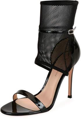 Gianvito Rossi Jordan Patent & Mesh 105mm Sandals