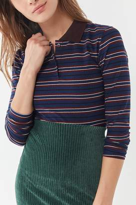 Urban Outfitters Long Sleeve Polo Top