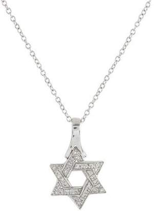 Reiss I. 14K Diamond Star of David Pendant Necklace