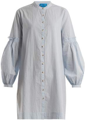 MiH Jeans Myers striped crinkled-cotton shirtdress