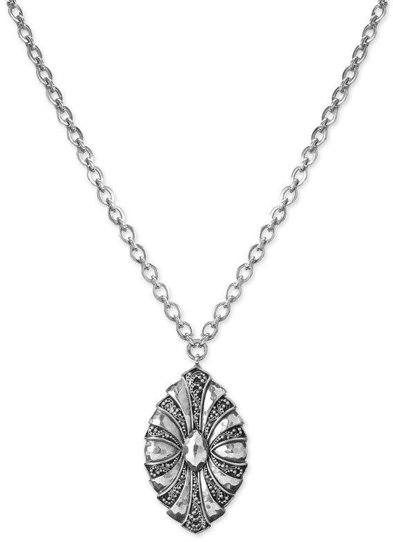 Lois Hill Granulated Fan Pendant Necklace