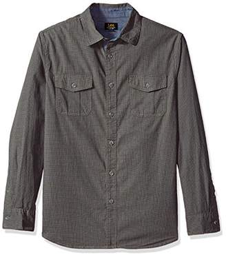Lee Men's Long Sleeve Button-Down Shirt