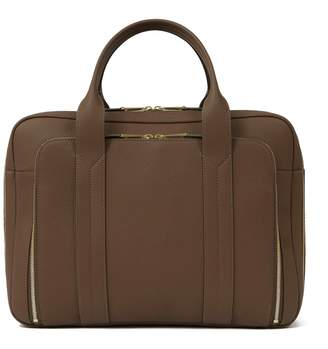 Volition Tyler - Leather Overnight Bag Taupe