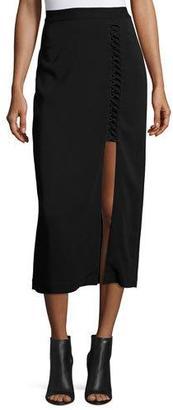 A.L.C. Steve Ponte Midi Skirt, Black $375 thestylecure.com