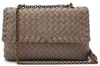 Bottega Veneta Baby Olimpia Intrecciato Leather Shoulder Bag - Womens - Grey