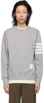Thom Browne Grey 4-Bar Classic Sweatshirt