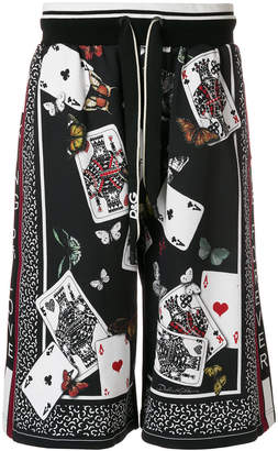 Dolce & Gabbana playing cards print shorts
