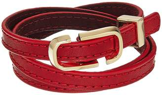 Marc Jacobs Double J Triple Wrap Leather Bracelet