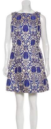 Alice + Olivia Brocade Sleeveless Mini Dress