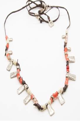 Uno de 50 Beaded Leather Necklace