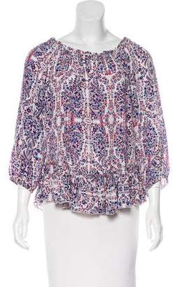 Rebecca Taylor Silk Off-The-Shoulder Blouse w/ Tags