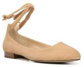 Franco Sarto Becca Ankle-Wrapped Leather Ballet Flats