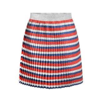 Gucci GUCCIGirls Silver Striped Lurex Skirt