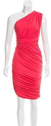 Halston One-Shoulder Cocktail Dress