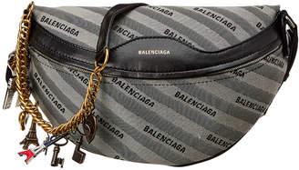 Balenciaga Souvenir Xs Leather & Canvas Shoulder Bag