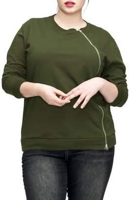 Universal Standard Meridian Zip Front Sweatshirt
